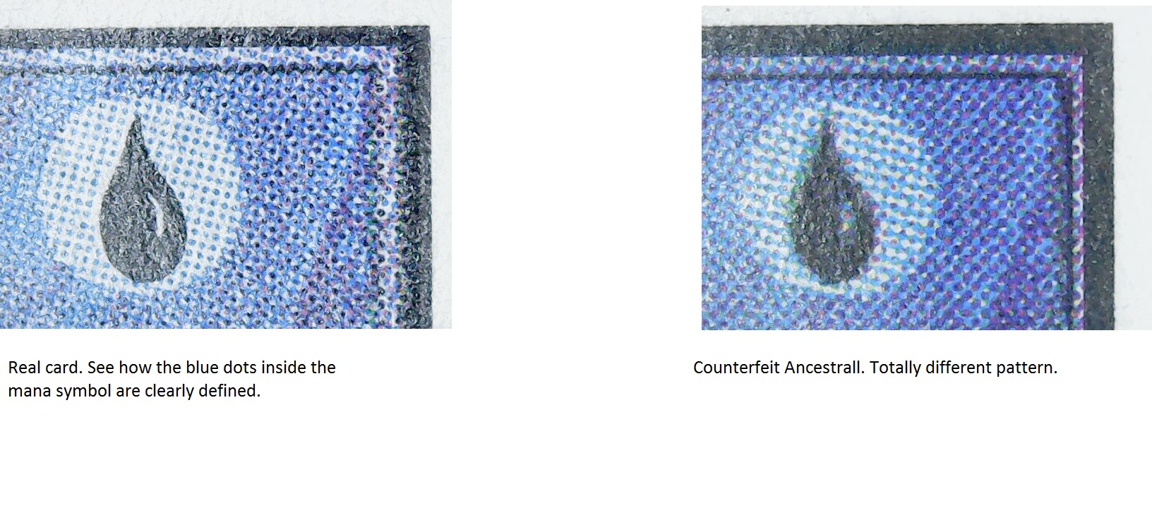 Counterfeit Ancestrall Recall mana symbol