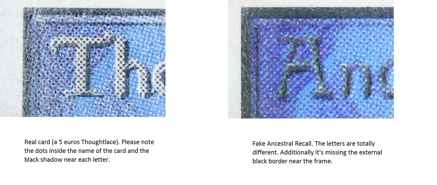 Counterfeit Ancestrall Recall