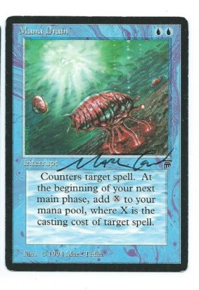 Legends Mana Drain Signed