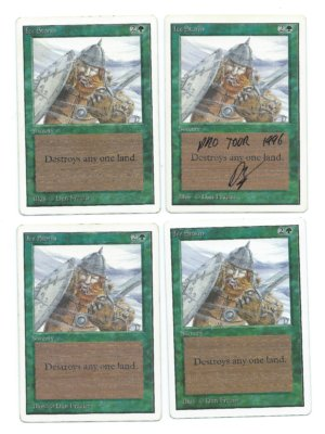 Magic MTG 4x Ice Storm Unlimited front