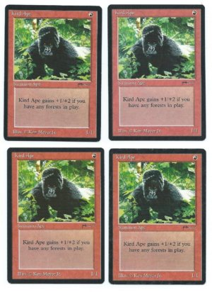 Magic MTG 4x Kird Ape Arabian Nights front