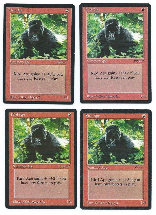 Magic MTG 4x Kird Ape Arabian Nights front
