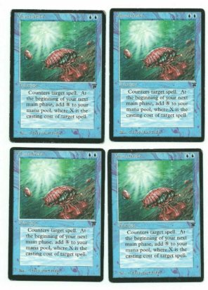Magic MTG 4x Legends Mana Drain English Gathering Playset Cards www_MoxBeta_com front