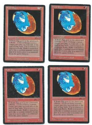 Magic MTG 4x Rukh Egg Arabian Nights front