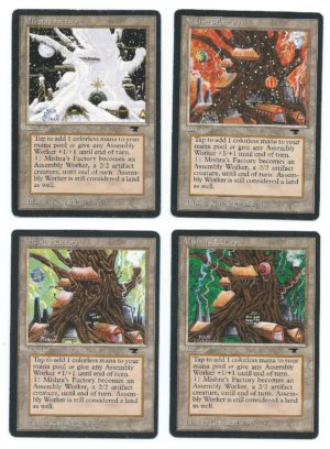 Magic MTG Antiquities 4x Mishra's Factory all seasons front