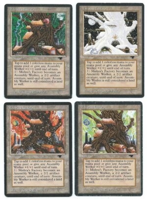 Magic MTG Antiquities 4x Mishrs's Factory complete set front
