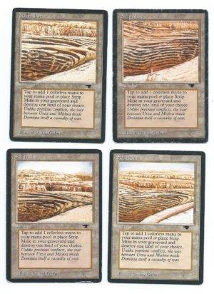 Magic MTG Antiquities Strip Mine full set front