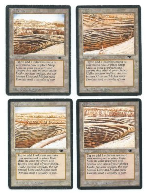 Magic MTG Antiquities strip mine complete set front