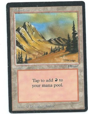 Magic MTG Arabian Nights Mountain
