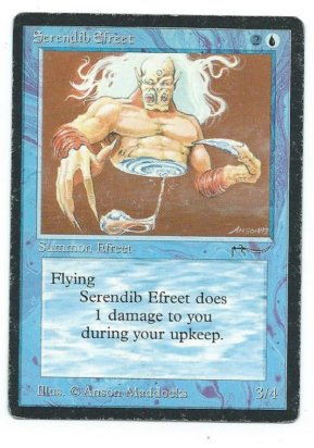 Magic MTG Arabian Nights Serendib Efreet front