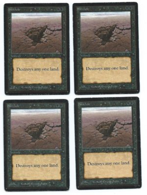 Magic MTG Beta 4x Sinkhole playset front