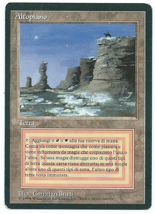 Magic MTG FBB Plateau Italian front