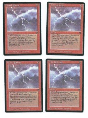 Magic MTG Legends Chain Lightning front