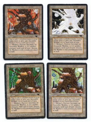 Magic MTG Mishra's Factory Antiquities playset front