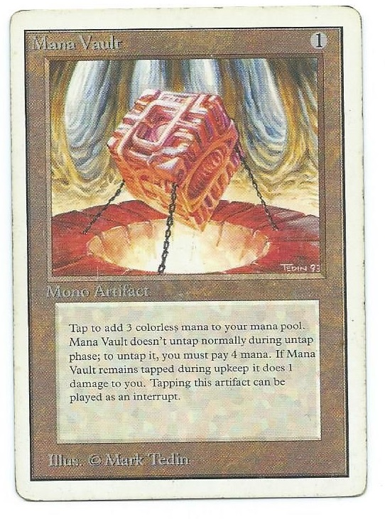 Magic MTG Unlimited Mana Vault front