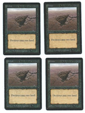 Magic MTG playset 4x Sinkhole Alpha Beta played front