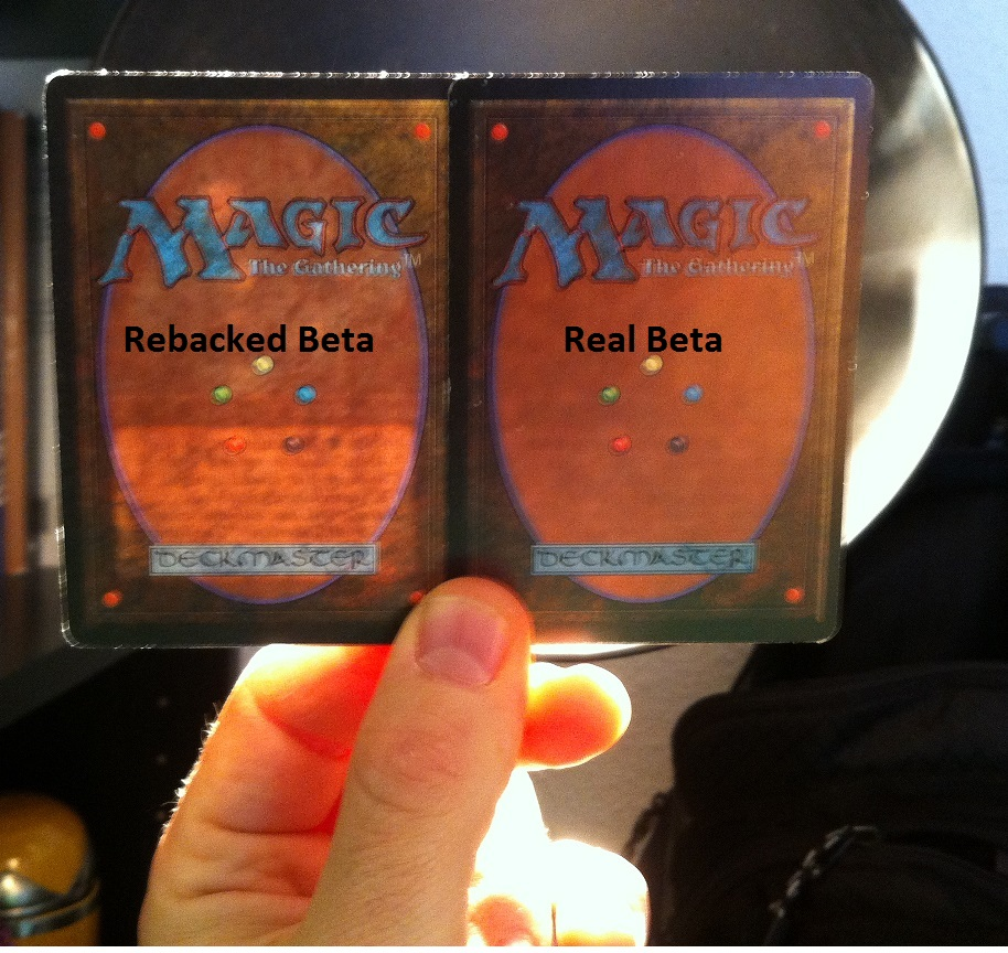 Rebacked Magic Card