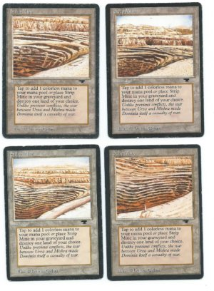 Strip Mine Antiquities complete set all arts front