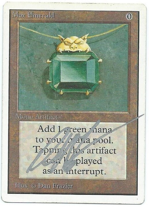 Mox Emerald Unlimited signed