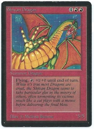 Beta Shivan Dragon Near Mint