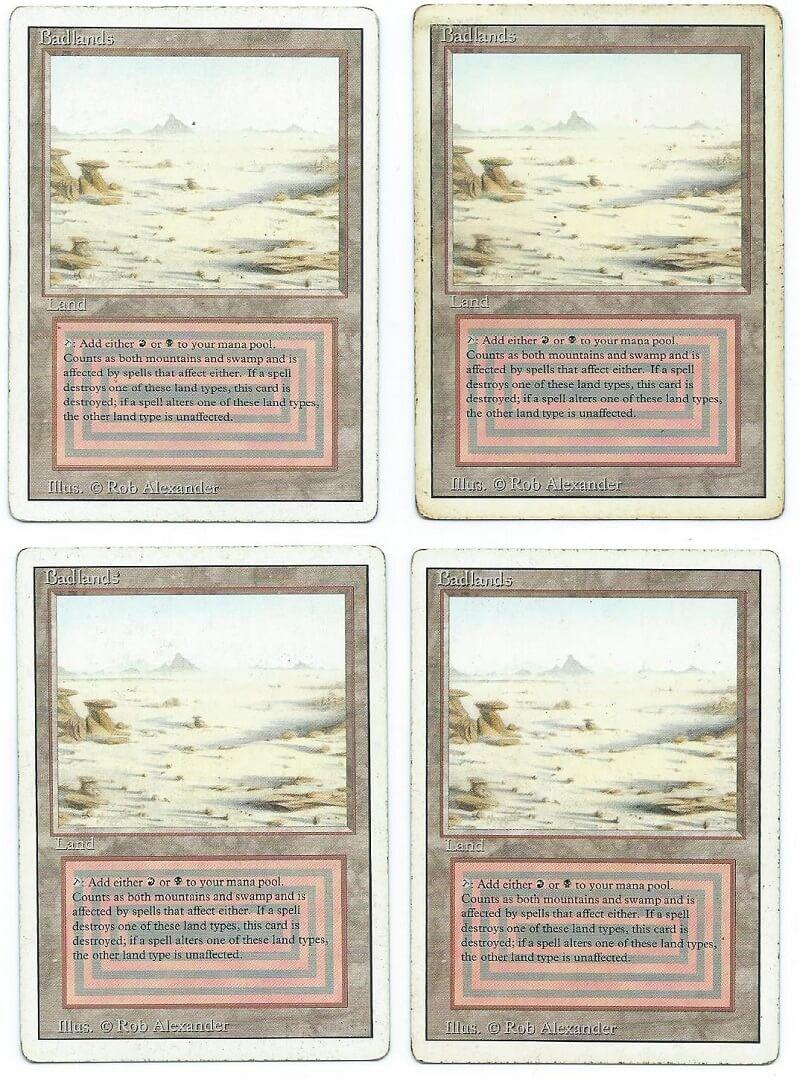Revised Edition  MTG  Badlands   Magic Dual Land