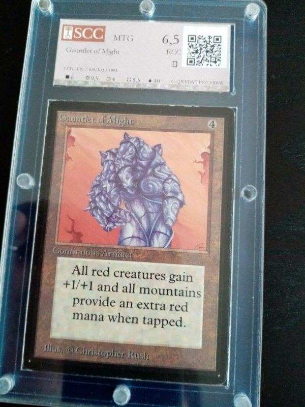Magic MTG Beta Gauntlet of Might Graded 6,5 SCC Excellent Gathering Card MoxBeta