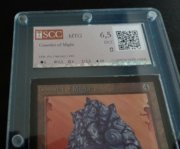 Magic MTG Beta Gauntlet of Might Graded 6,5 SCC Excellent Gathering Card MoxBeta detail