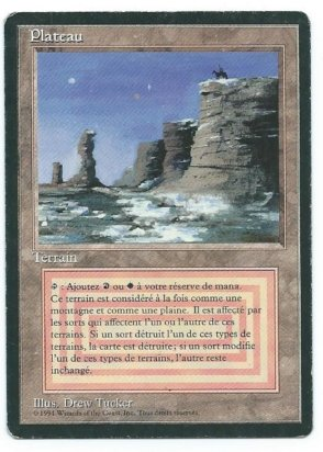 Magic MTG FBB Plateau French front #1