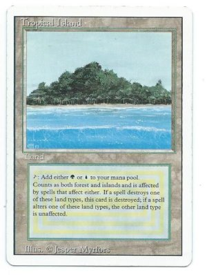 Magic MTG Revised Tropical Island Front