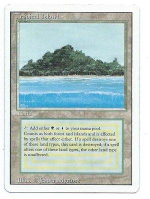 Magic MTG Revised Tropical Island Front
