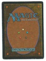 Magic MTG Revised dual land Scrubland back