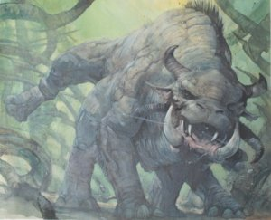 brontotherium original MTG artwork