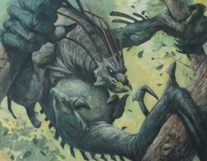 feral throwback original  mtg art