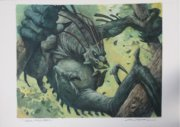 feral throwback original MTG painting
