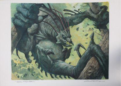 feral throwback original MTG painting