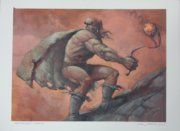 MTG original art for Hammerheim Deadeye