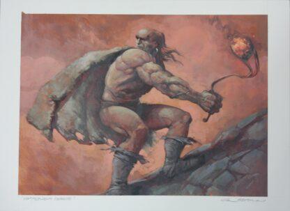 MTG original art for Hammerheim Deadeye