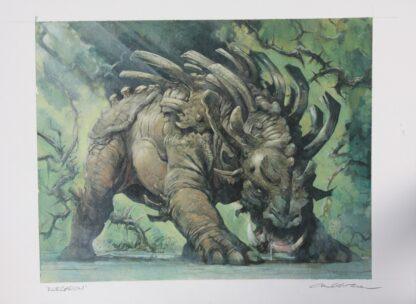 Kurgadon original MTG painting artwork