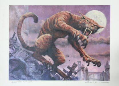 Original magic card drawing Saberthoot Alley Cat