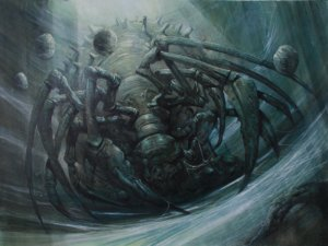 Original MTG painting venerable kumo