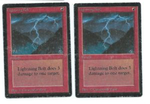 2x Beta Lightning Bolt front