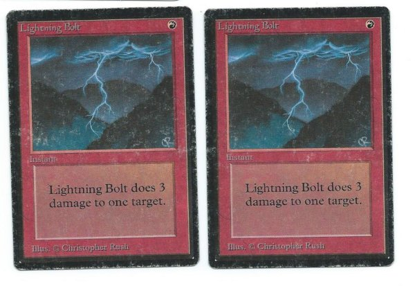 2x Beta Lightning Bolt front