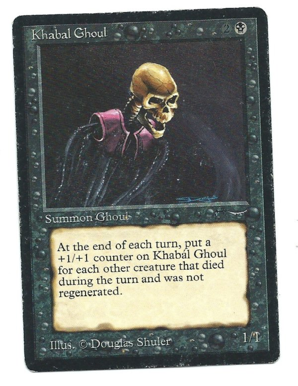 Magic MTG Arabian Nights Khabal Ghoul front