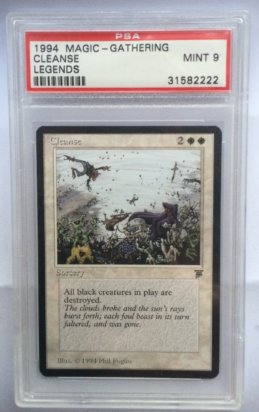 Cleanse Legends PSA 9 mint front