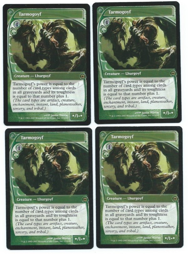 Magic MTG 4x Tarmogoyf Future Sight front