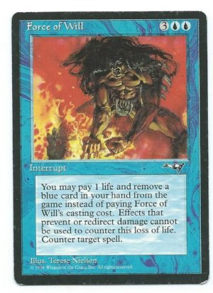 Magic MTG Force of Will front