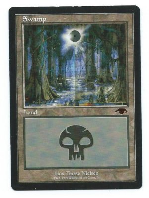 Magic MTG Promo Guru Swamp front