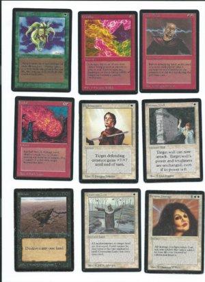 Magic the Gathering Beta cards lot