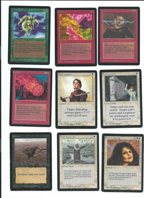 Magic the Gathering Beta cards lot