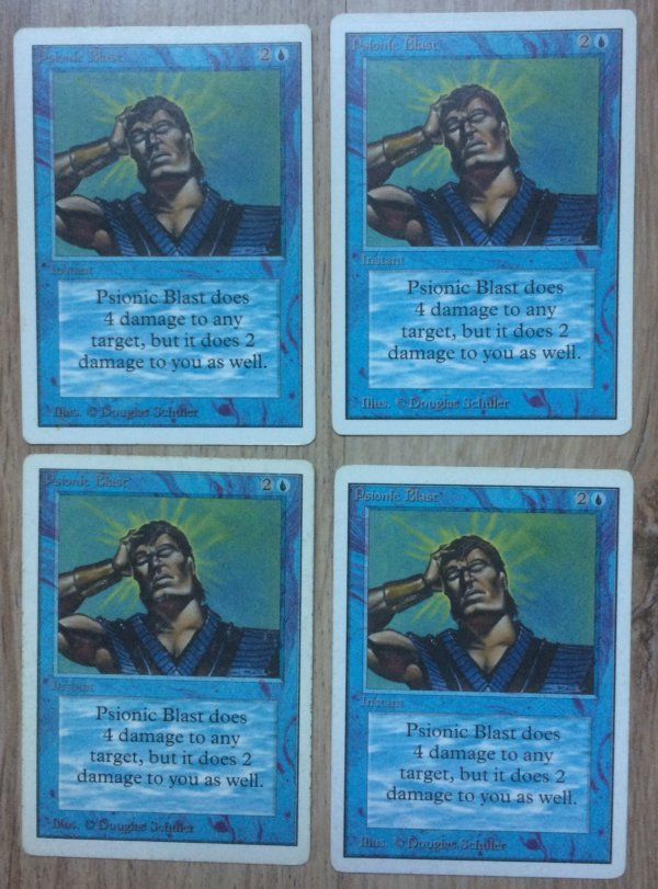 Magic MTG 4x Psionic Blast Unlimited front